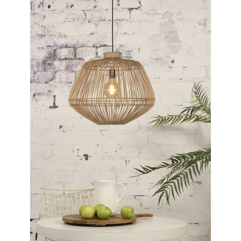 MADAGASCAR rattan suspension lamp (natural) - image 45344