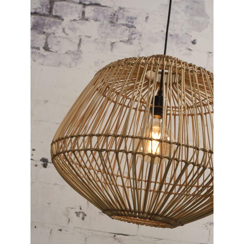 MADAGASCAR rattan suspension lamp (natural) - image 45347