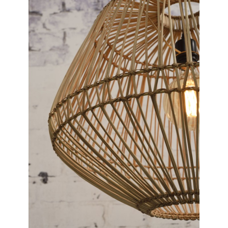 MADAGASCAR rattan suspension lamp (natural) - image 45348