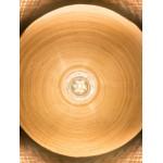 MEKONG flache Bambus Hängeleuchte (60 cm) 2 Lampenschirme (weiß, natur)