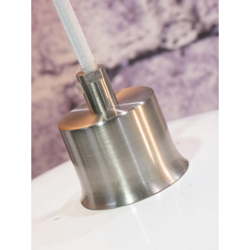 Lámpara de suspensión plana de bambú MEKONG (40 cm) (blanco, natural) - image 45369