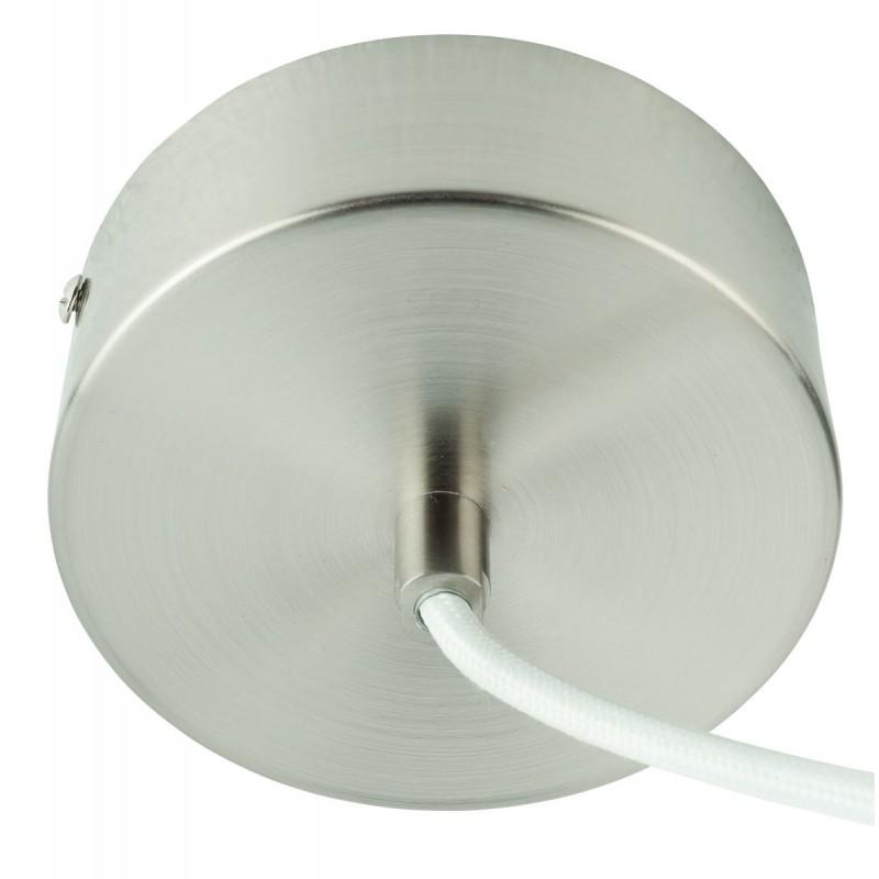 Lampada a sospensione MEKONG di bambù piatto (40 cm) (bianca, naturale) - image 45370
