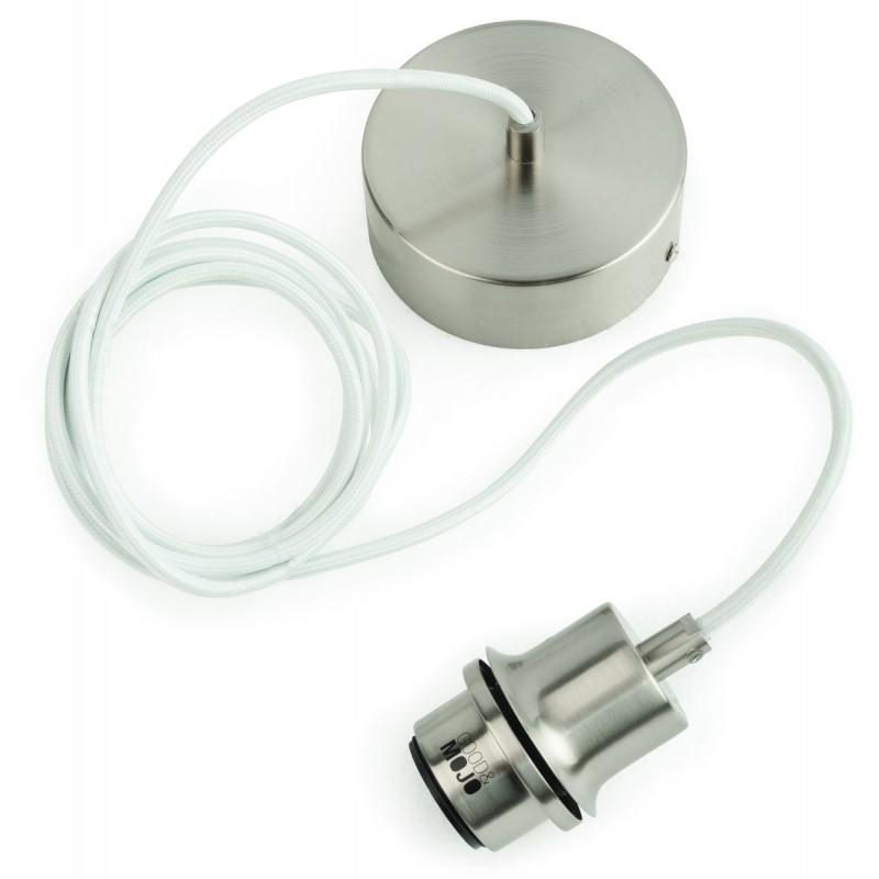 Lampe à suspension en bambou MEKONG rond (Ø 40 cm) (blanc, naturel) - image 45380