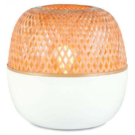 MEKONG XL bamboo table lamp (white, natural)