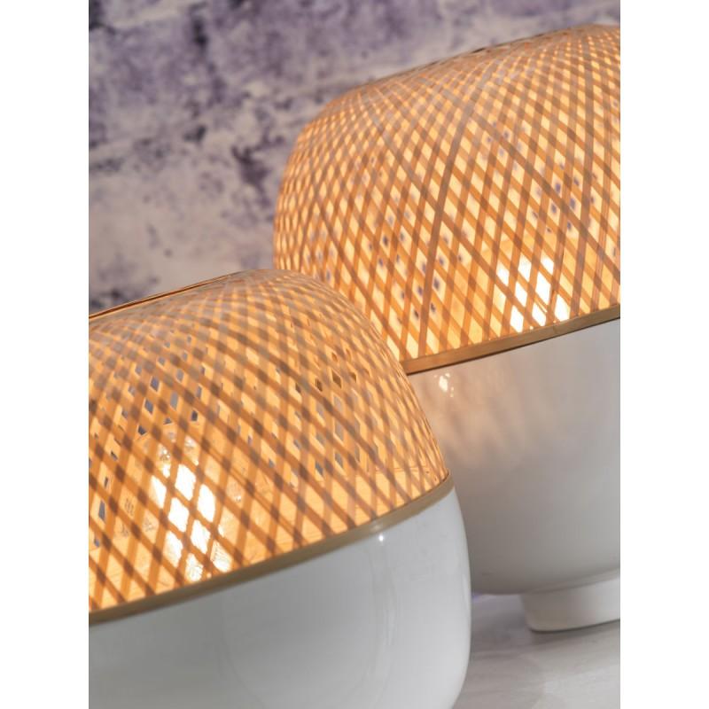 Lampada da tavolo MEKONG XL di bambù (bianca, naturale) - image 45402