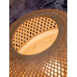 Lámpara de mesa de bambú MEKONG XL (blanco, natural)