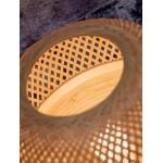 Lampada da tavolo MEKONG XL di bambù (bianca, naturale)