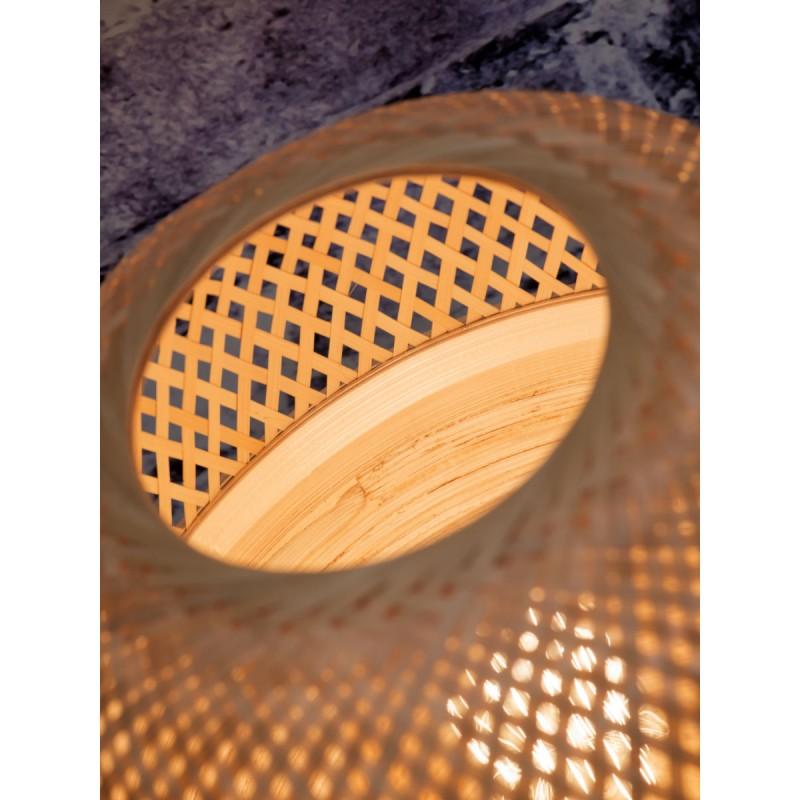 Lampada da tavolo MEKONG XL di bambù (bianca, naturale) - image 45403