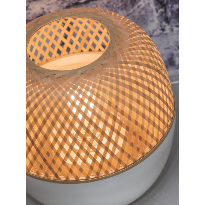 Lampada da tavolo MEKONG XL di bambù (bianca, naturale) - image 45404