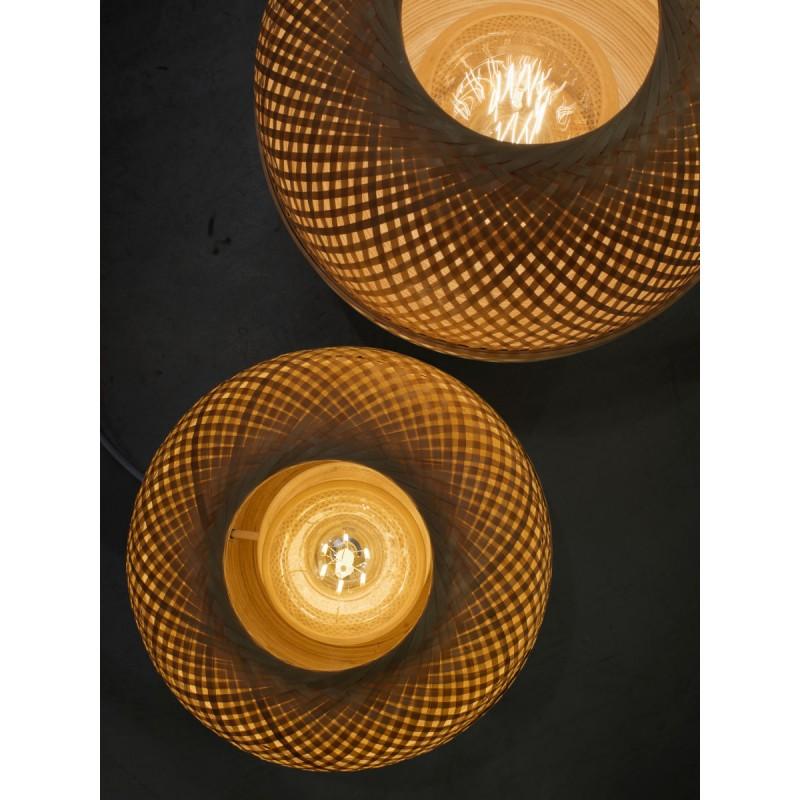 Lampada da tavolo MEKONG XL di bambù (bianca, naturale) - image 45406
