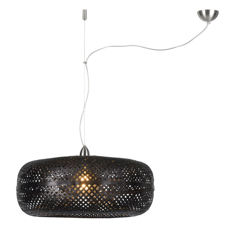 Lámpara de suspensión de bambú PALAWAN (negro)