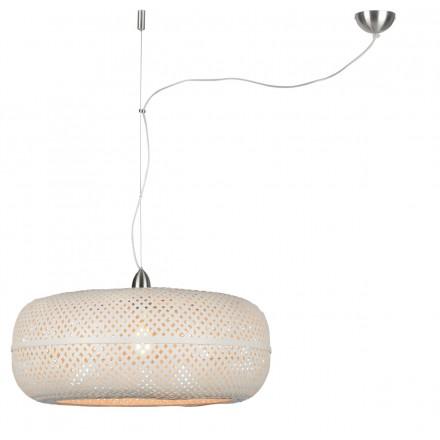 PALAWAN bamboo suspension lamp (white)