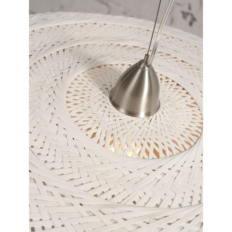 Lampe à suspension en bambou PALAWAN (blanc) - image 45430