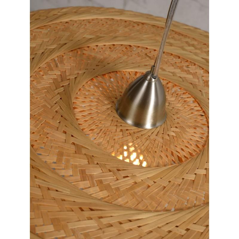 PALAWAN Bambus Hängeleuchte 2 Lampenschirme (natürlich) - image 45451