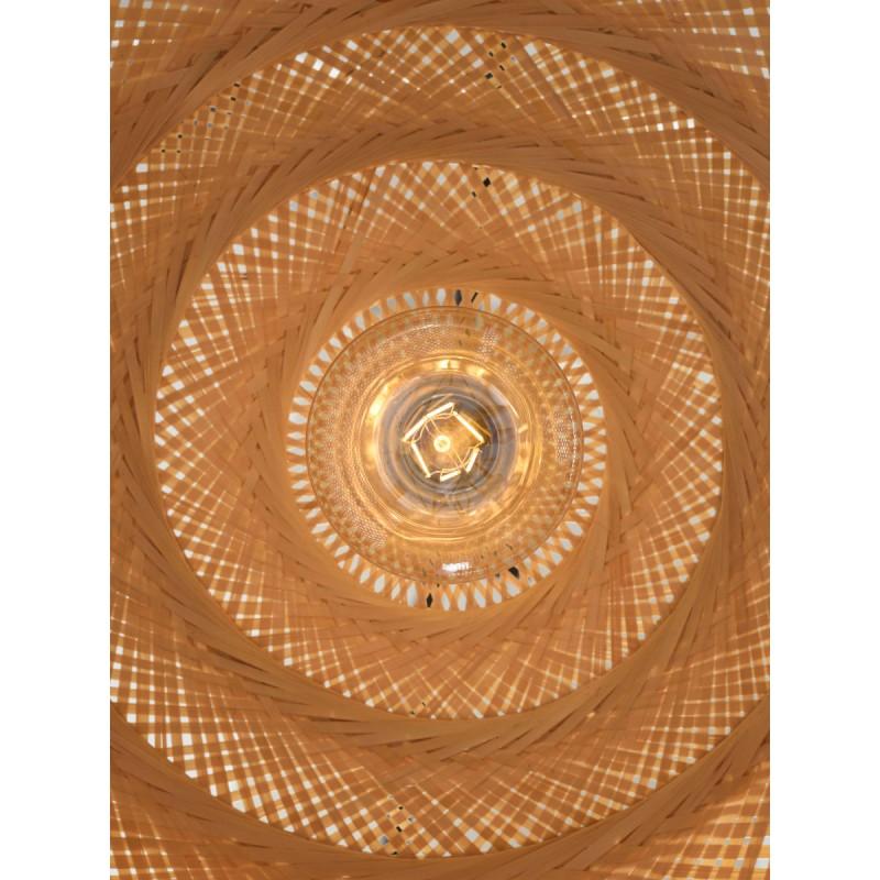 PALAWAN Bambus Hängeleuchte 2 Lampenschirme (natürlich) - image 45454