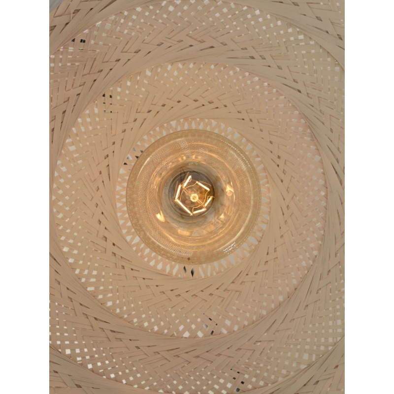 PALAWAN bamboo suspension lamp 2 lampshades (white) - image 45461