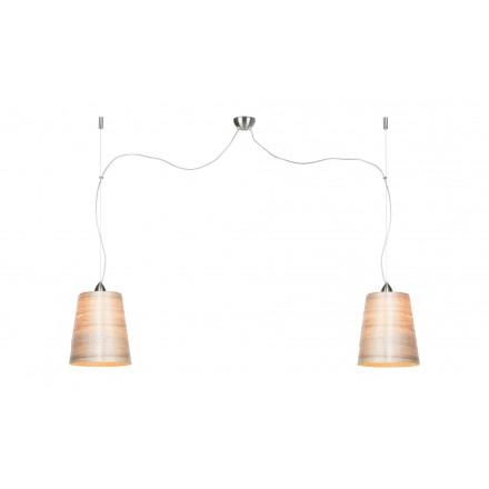 Lámpara de suspensión en abaca SAHARA MEDIUM 2 pantallas (natural)