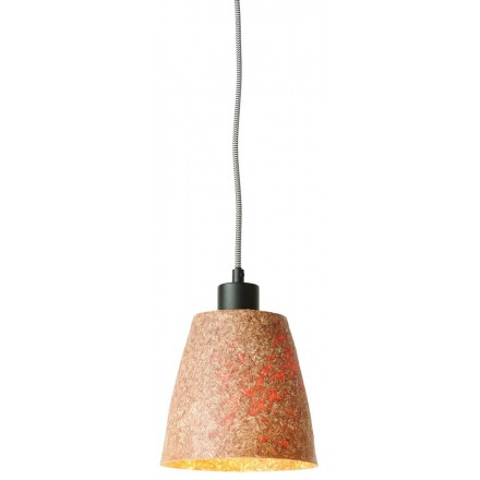 SUSPENSION lamp in wood chips SEQUOIA 1 shade (natural)