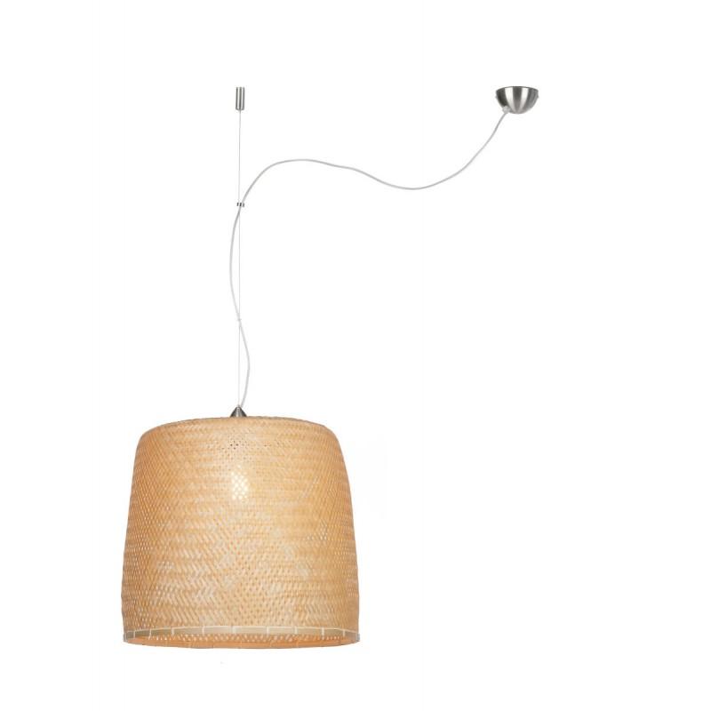 SERENGETI Bambus Hängeleuchte 1 Lampenschirm (natürlich)