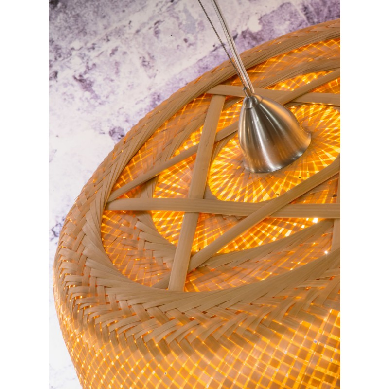 SERENGETI Bambus Hängeleuchte 1 Lampenschirm (natürlich) - image 45556