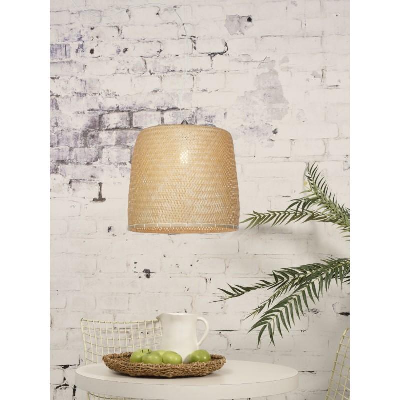 SERENGETI Bambus Hängeleuchte 1 Lampenschirm (natürlich) - image 45564