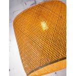 Bamboo suspension lamp SERENGETI 2 lampshades (natural)