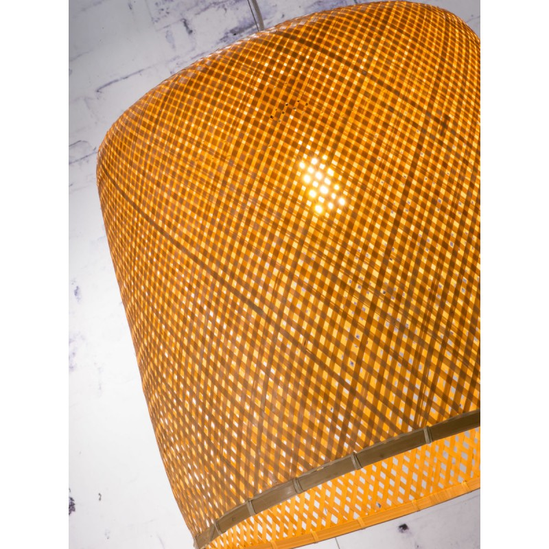 Bambus Hängeleuchte SERENGETI 2 Lampenschirme (natürlich) - image 45570