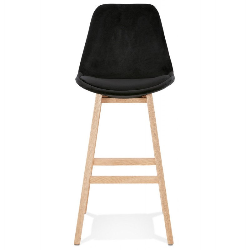 Scandinavian design bar stool in natural-colored feet CAMY (black) - image 45603