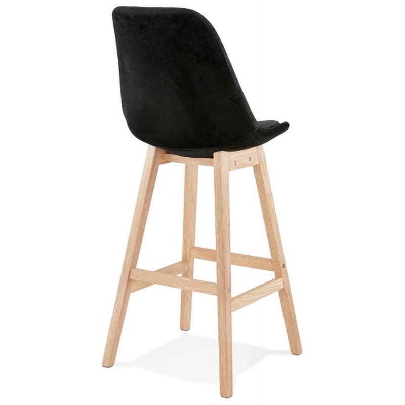 Taburete de barra de diseño escandinavo en pies de color natural CAMY (negro) - image 45605