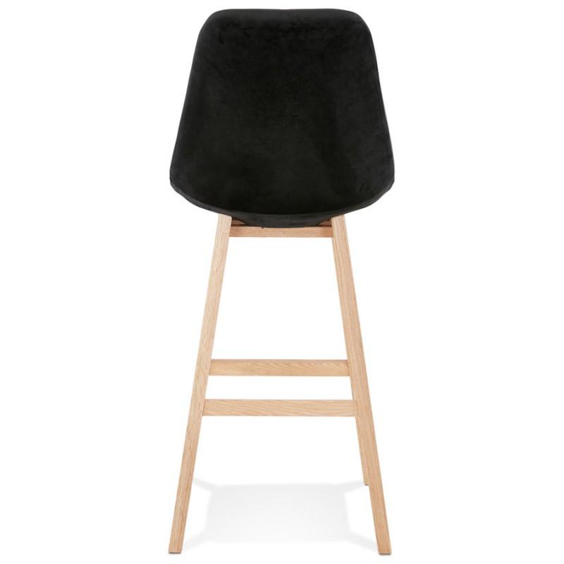 Taburete de barra de diseño escandinavo en pies de color natural CAMY (negro) - image 45606