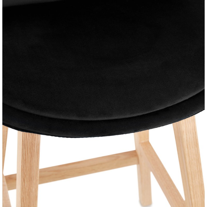 Scandinavian design bar stool in natural-colored feet CAMY (black) - image 45608