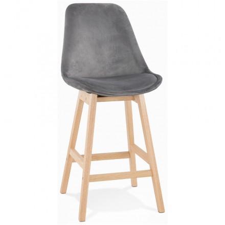 Manubrio a barre a media altezza Design scandinavo in piedi di colore naturale CAMY MINI (grigio)