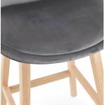 Scandinavian design bar stool in natural-colored feet CAMY (grey)