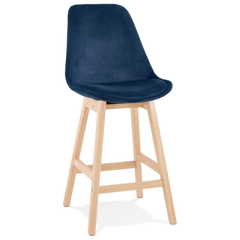 Almohadilla de barra de altura media Diseño escandinavo en pies de color natural CAMY MINI (azul) - image 45654