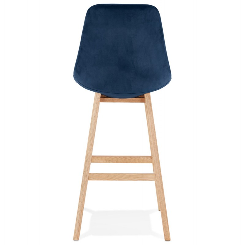 Scandinavian design bar stool in natural-colored feet CAMY (blue) - image 45668