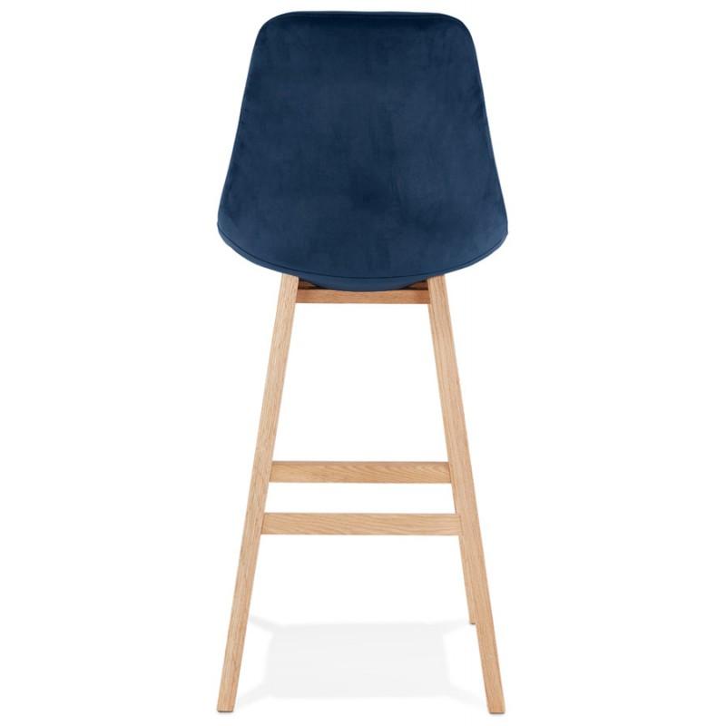 Taburete de barra de diseño escandinavo en pies de color natural CAMY (azul) - image 45668