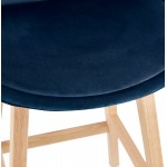 Taburete de barra de diseño escandinavo en pies de color natural CAMY (azul)