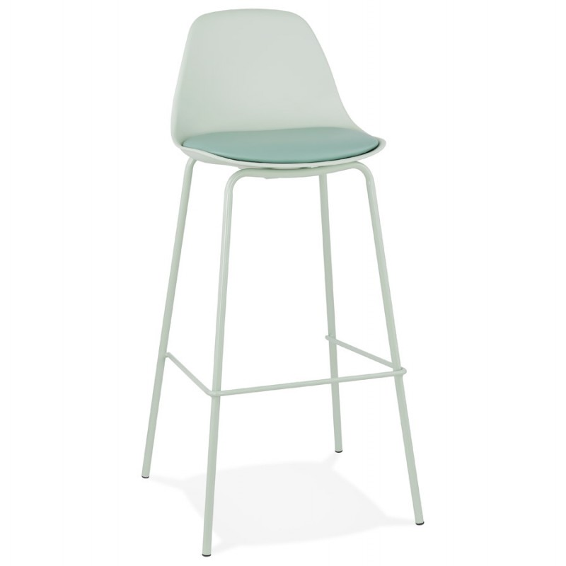 Tabouret de bar chaise de bar industriel pieds vert clair OCEANE (vert clair)