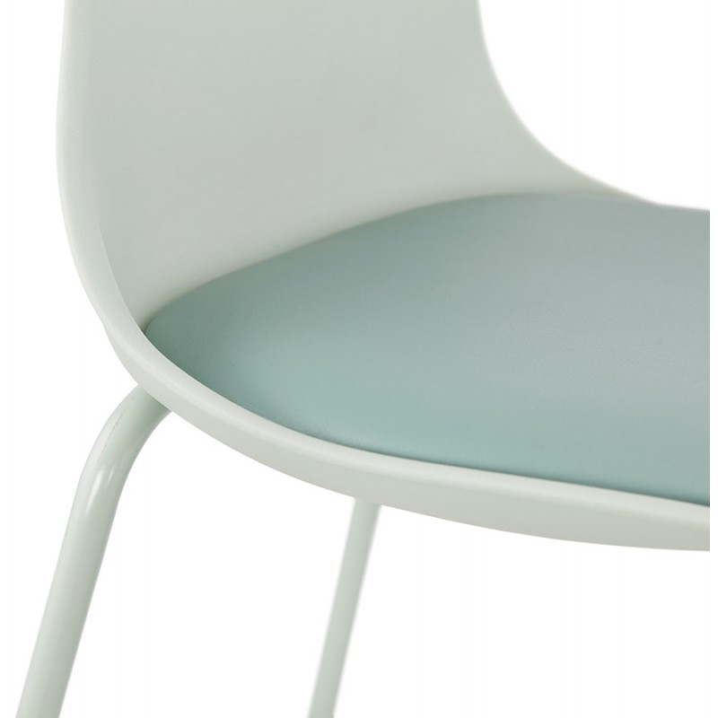 Tabouret de bar chaise de bar industriel pieds vert clair OCEANE (vert clair) - image 46031