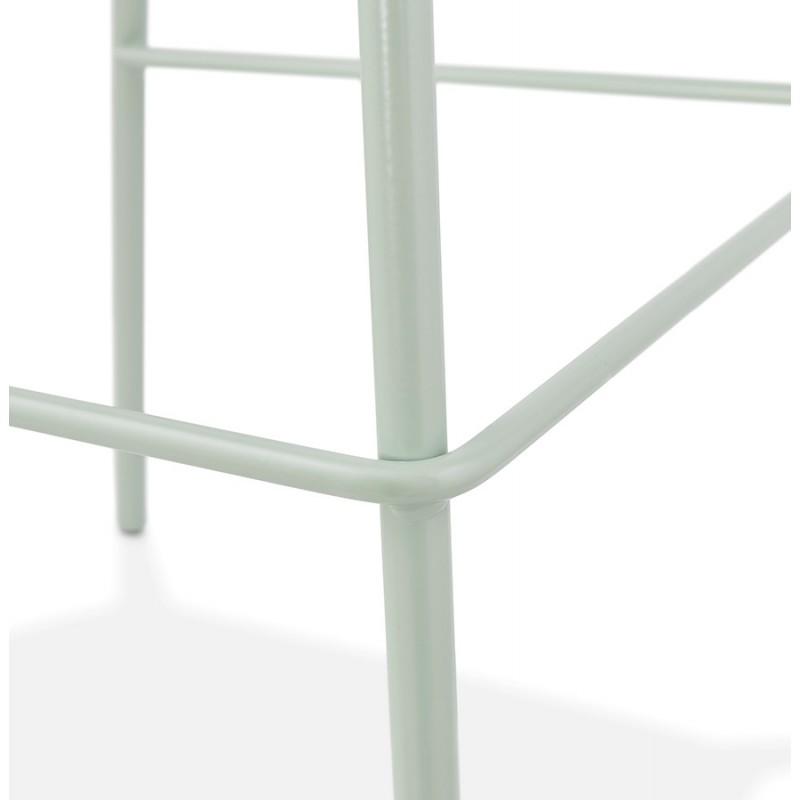 Tabouret de bar chaise de bar industriel pieds vert clair OCEANE (vert clair) - image 46033