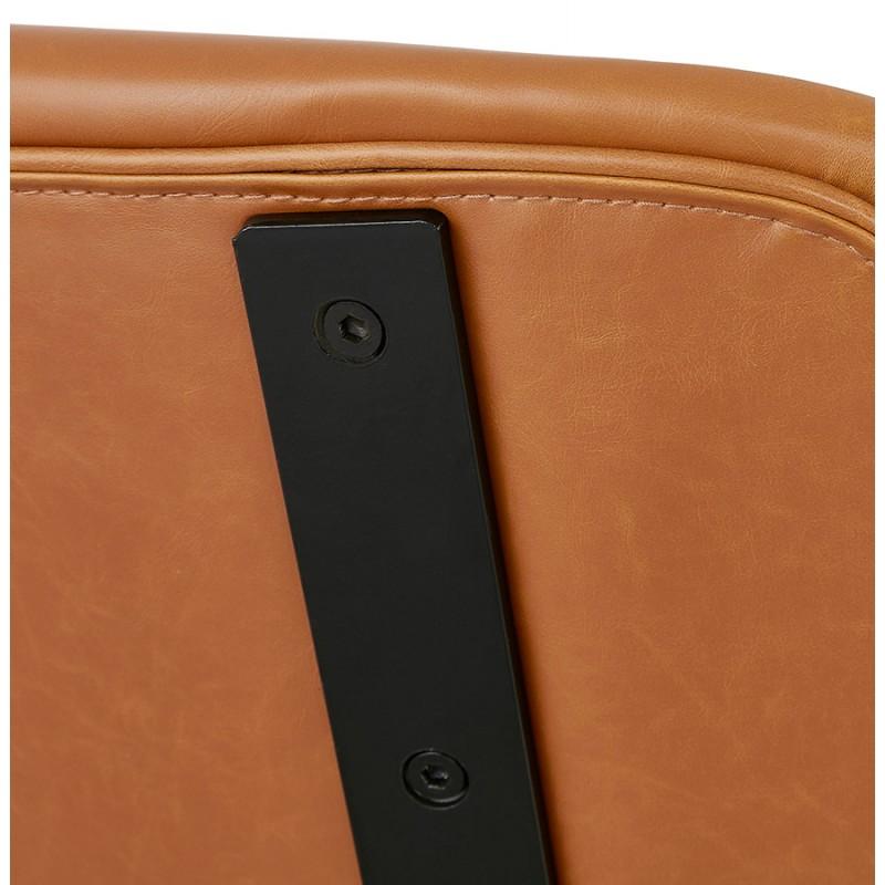 Tabouret de bar vintage pieds noirs FOREST (marron) - image 46077