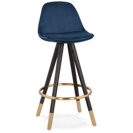 Mid-height bar set design in velvet black and gold NEKO MINI feet (blue)