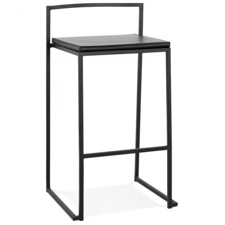 Almohadilla industrial de barra de barra de altura media apilable pies negros LOIRET MINI (negro)
