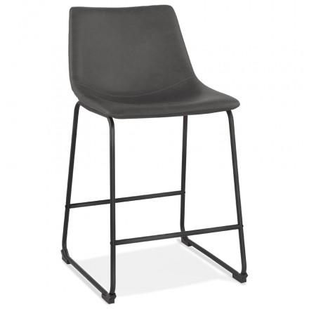Almohadilla de barra de altura media pies negros vintage JOE MINI (gris oscuro)