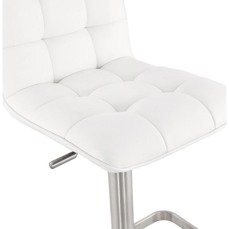 Tabouret de bar matelassé et réglable ANAIS (blanc) - image 46266