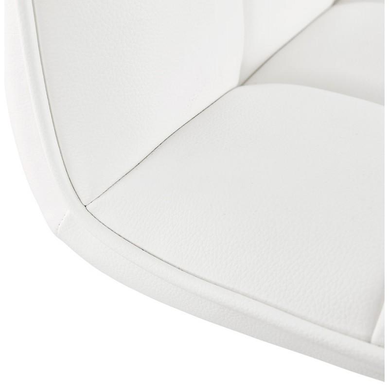 Tabouret de bar matelassé et réglable ANAIS (blanc) - image 46270