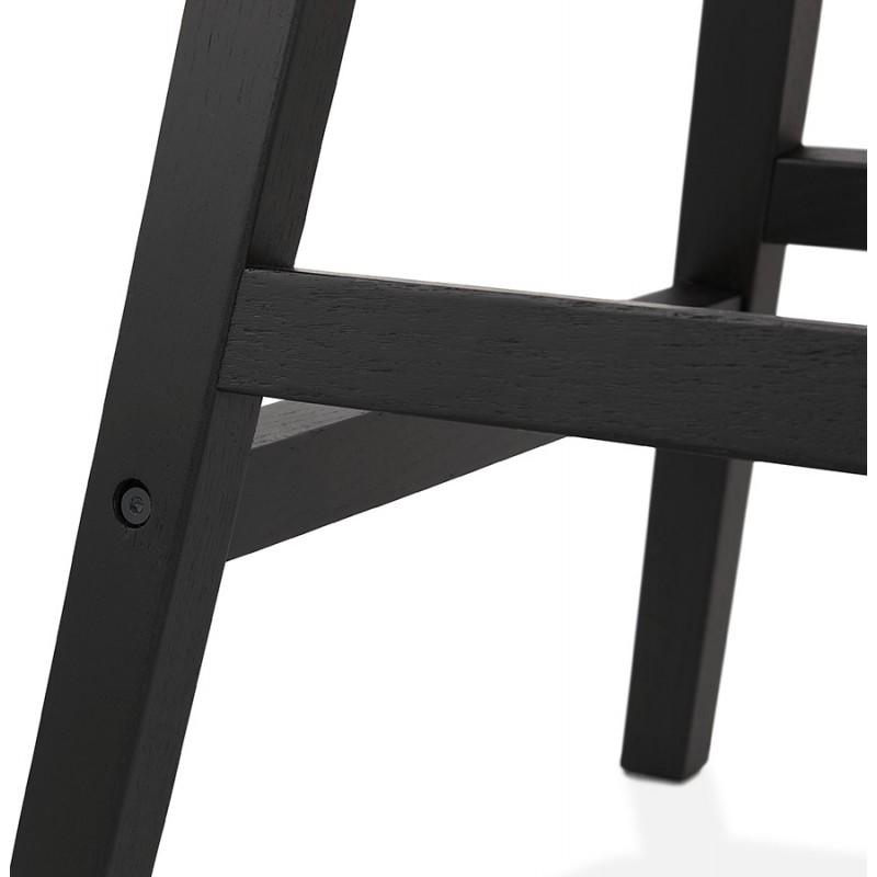 Tabouret de bar chaise de bar mi-hauteur design pieds noirs DYLAN MINI (gris clair) - image 46303