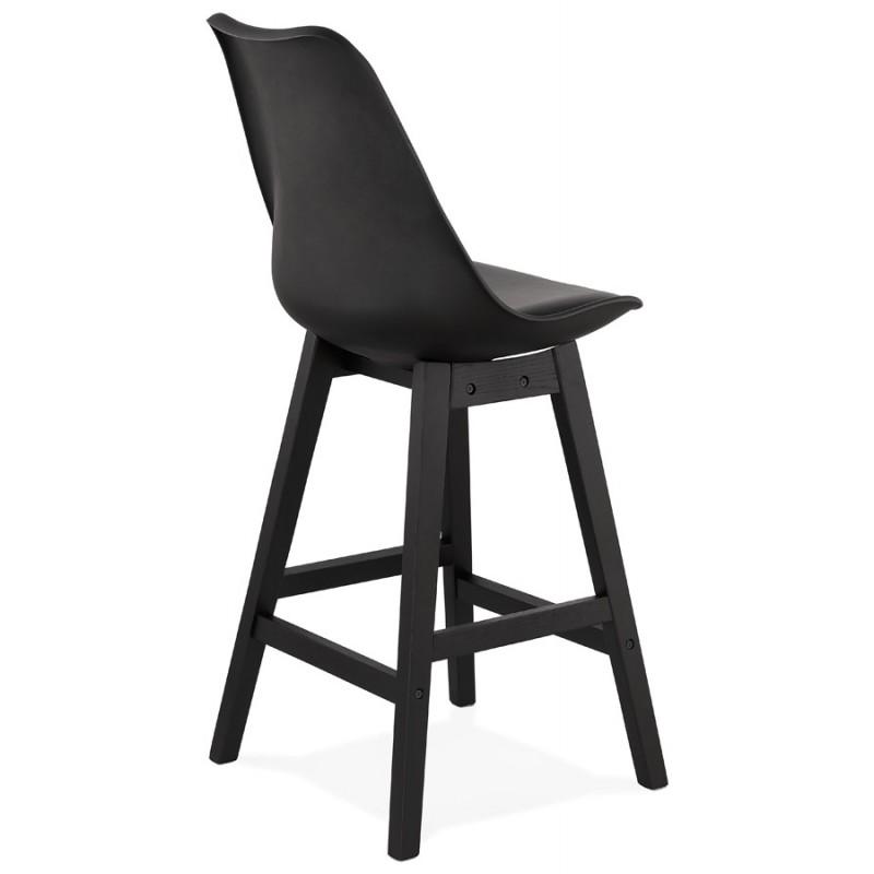 Tabouret de bar chaise de bar mi-hauteur design pieds noirs DYLAN MINI (noir) - image 46318