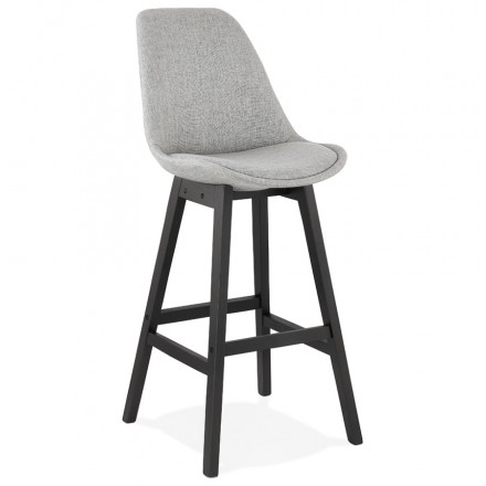 ILDA black foot bar chair bar set (light grey)