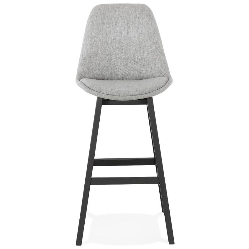 Tabouret de bar chaise de bar pieds noirs ILDA (gris clair) - image 46336